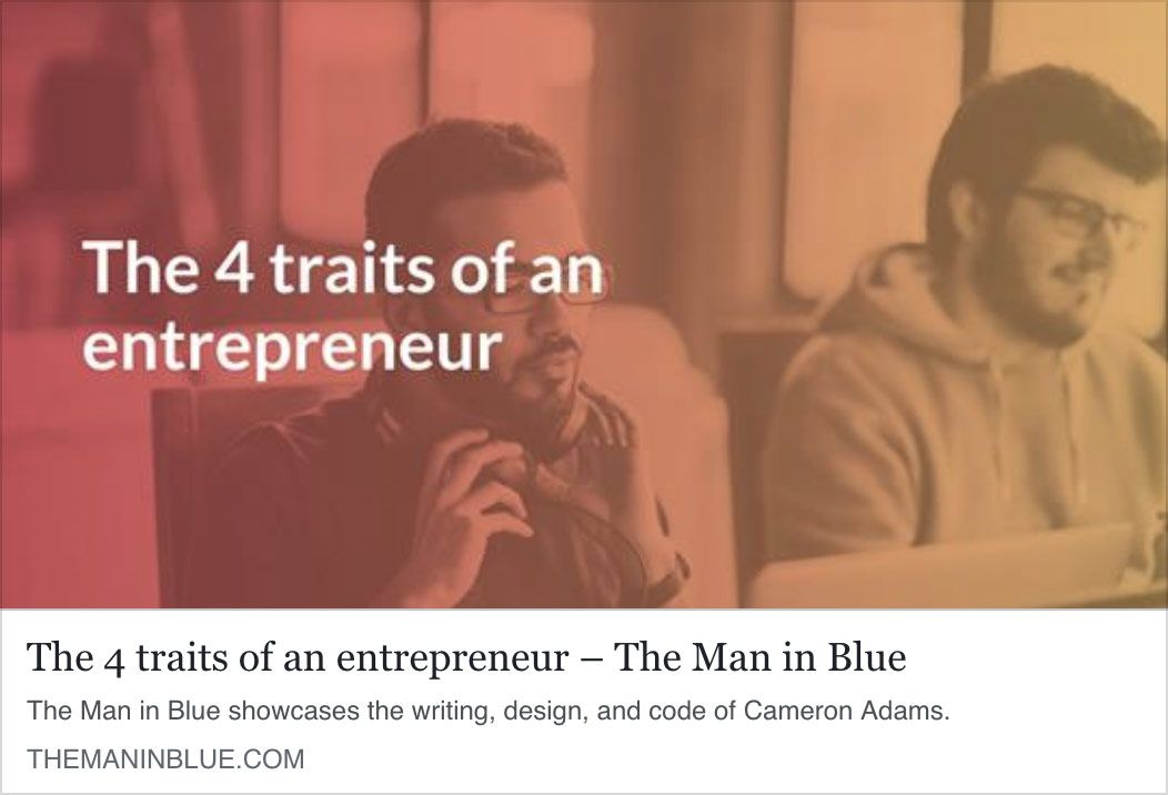 The 4 traits of an entrepreneur